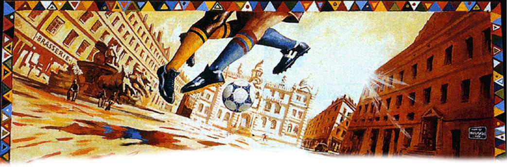 Fresque événementiel sur le foot en 1998.