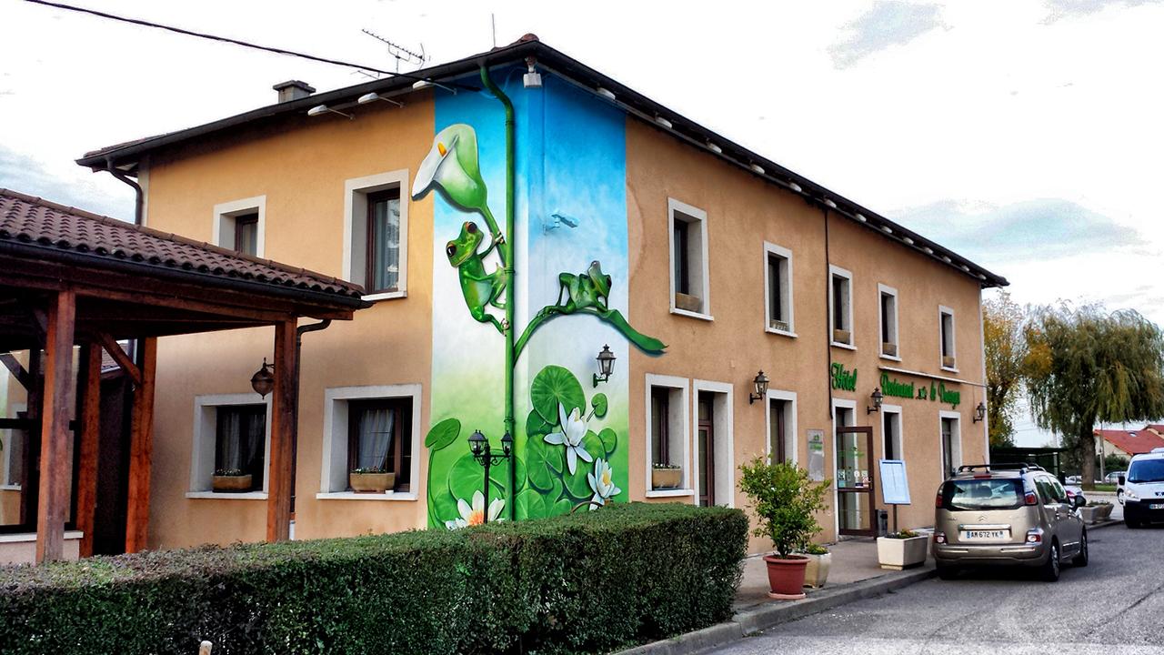 Fresque pour la façade du restaurant le Duverger.