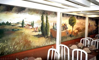 Fresque pour intérieur restaurant.
